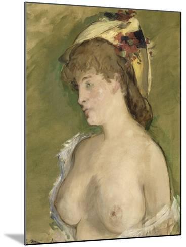 La blonde aux seins nus-Edouard Manet-Mounted Giclee Print