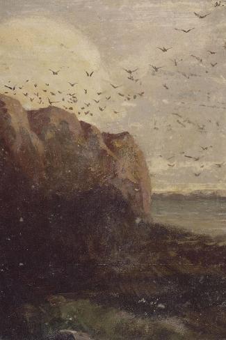La Baie des Trépassés (Finistère)-Odilon Redon-Stretched Canvas Print