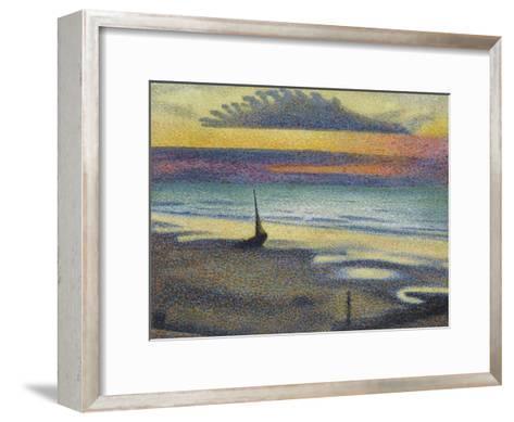 La Plage à Heist-Georges Lemmen-Framed Art Print