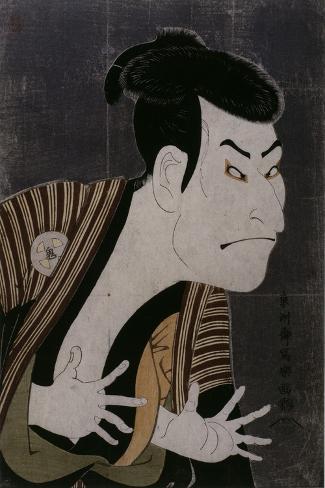 L'acteur Otani Oniji III-Tôshûsai Sharaku-Stretched Canvas Print