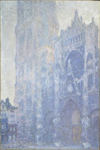 La cathédrale de Rouen. Le portail et la tour Saint-Romain, effet du matin-Claude Monet-Stretched Canvas Print
