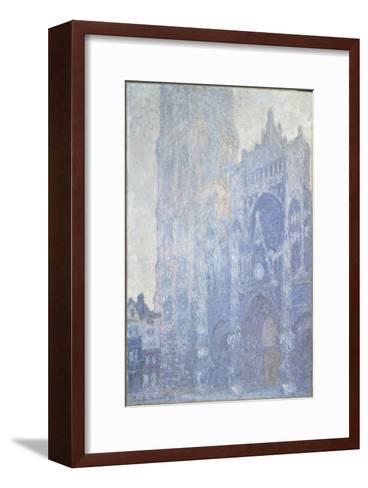 La cathédrale de Rouen. Le portail et la tour Saint-Romain, effet du matin-Claude Monet-Framed Art Print