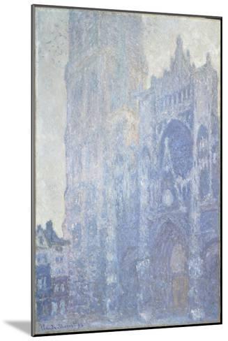 La cathédrale de Rouen. Le portail et la tour Saint-Romain, effet du matin-Claude Monet-Mounted Giclee Print