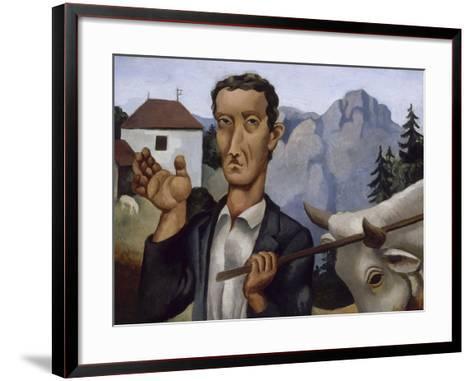 Le bouvier-Roger de La Fresnaye-Framed Art Print