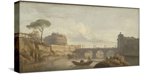 Le Pont et le château Saint-Ange à Rome-Claude Joseph Vernet-Stretched Canvas Print