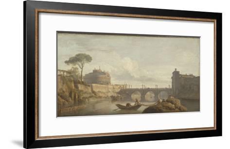 Le Pont et le château Saint-Ange à Rome-Claude Joseph Vernet-Framed Art Print