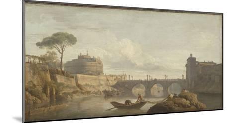 Le Pont et le château Saint-Ange à Rome-Claude Joseph Vernet-Mounted Giclee Print