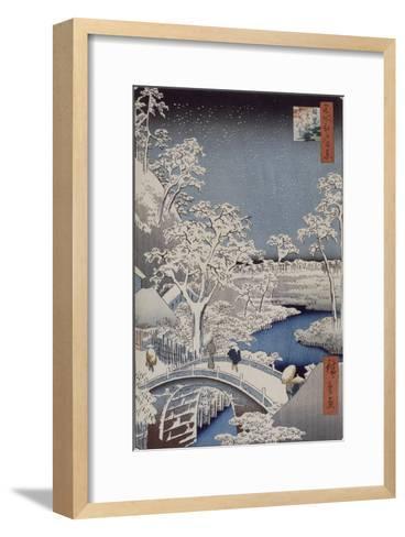 Le pont Taiko et la colline Yûshi à Meguro-Ando Hiroshige-Framed Art Print