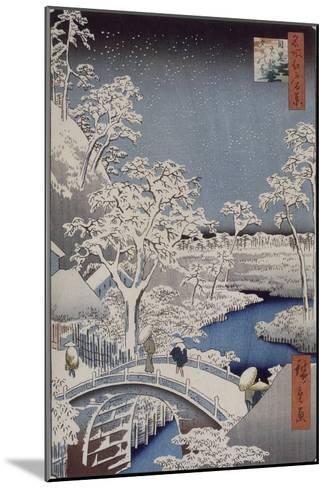 Le pont Taiko et la colline Yûshi à Meguro-Ando Hiroshige-Mounted Giclee Print