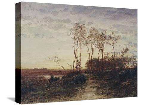 La Camargue, coucher de soleil-F?lix Ziem-Stretched Canvas Print