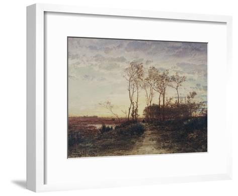 La Camargue, coucher de soleil-F?lix Ziem-Framed Art Print