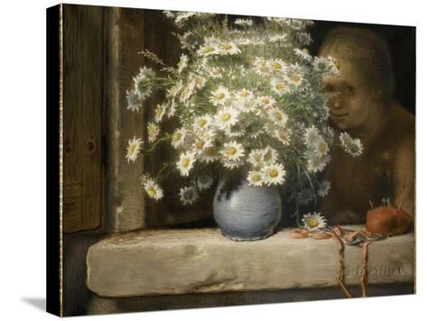 Le bouquet de marguerites-Jean-Fran?ois Millet-Stretched Canvas Print