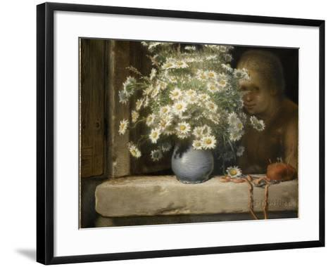Le bouquet de marguerites-Jean-Fran?ois Millet-Framed Art Print