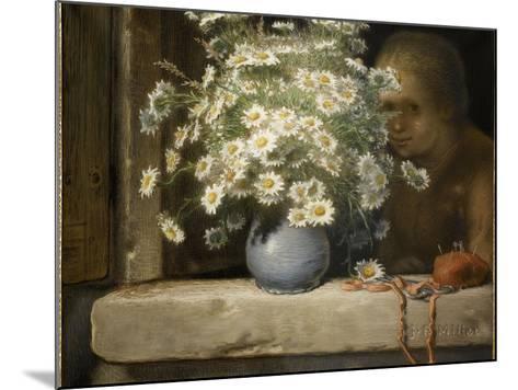Le bouquet de marguerites-Jean-Fran?ois Millet-Mounted Giclee Print