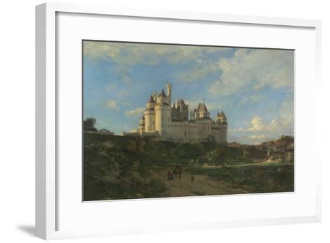 Le Château de Pierrefonds-Emmanuel Lansyer-Framed Art Print