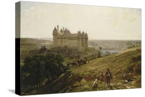 Le Château de Pierrefonds en restauré-Paul Huet-Stretched Canvas Print