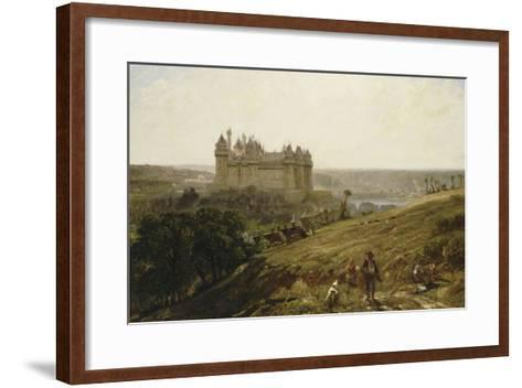Le Château de Pierrefonds en restauré-Paul Huet-Framed Art Print