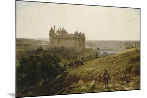 Le Château de Pierrefonds en restauré-Paul Huet-Mounted Giclee Print