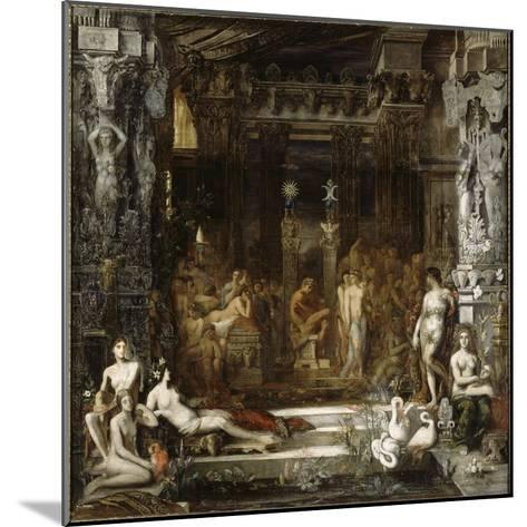 Les Filles de Thespius-Gustave Moreau-Mounted Giclee Print