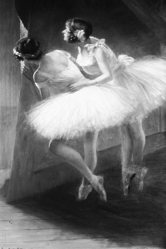 Le Jour de l'examen (danseuses)-François Vizzavona-Stretched Canvas Print