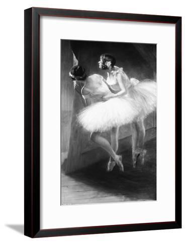 Le Jour de l'examen (danseuses)-François Vizzavona-Framed Art Print