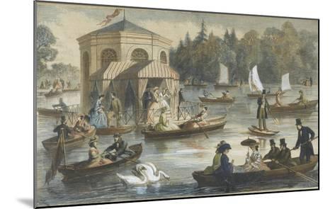 La cour à Fontainebleau. La pièce d'eau--Mounted Giclee Print