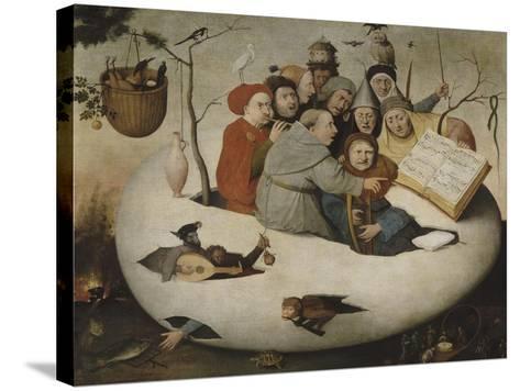 Le concert dans l'oeuf (Satire de l'alchimie symbolis?par l'oeuf philosophique)-J?r?me Bosch-Stretched Canvas Print