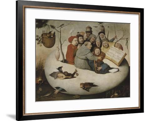 Le concert dans l'oeuf (Satire de l'alchimie symbolis?par l'oeuf philosophique)-J?r?me Bosch-Framed Art Print