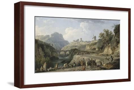 La construction d'un grand chemin-Claude Joseph Vernet-Framed Art Print