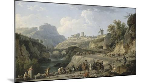 La construction d'un grand chemin-Claude Joseph Vernet-Mounted Giclee Print
