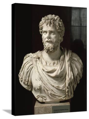 L'empereur Septime Sévère (empereur de 193-211 ap jc), buste cuirassé--Stretched Canvas Print