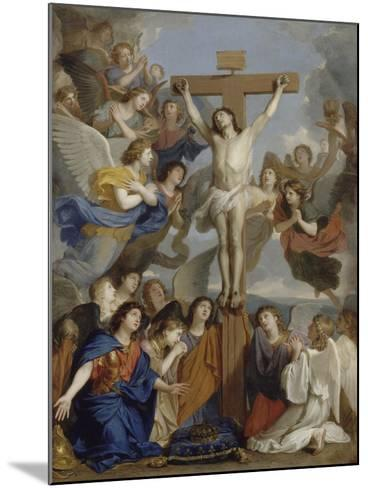 Le Crucifix aux anges-Charles Le Brun-Mounted Giclee Print