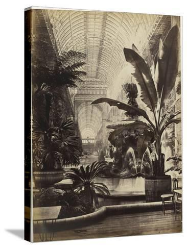 Crystal Palace : Montis Fountain and nave looking South (fontaine Montis et nef vue du sud)-Joseph Warren Zambra-Stretched Canvas Print