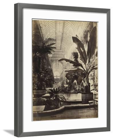 Crystal Palace : Montis Fountain and nave looking South (fontaine Montis et nef vue du sud)-Joseph Warren Zambra-Framed Art Print