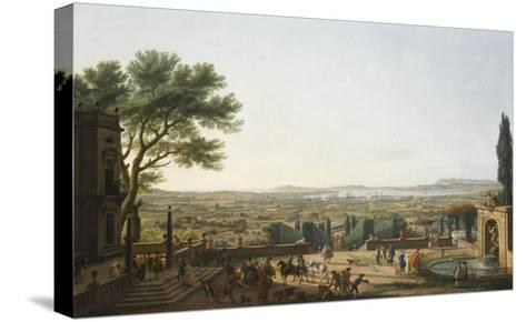 La Ville et la rade de Toulon-Claude Joseph Vernet-Stretched Canvas Print