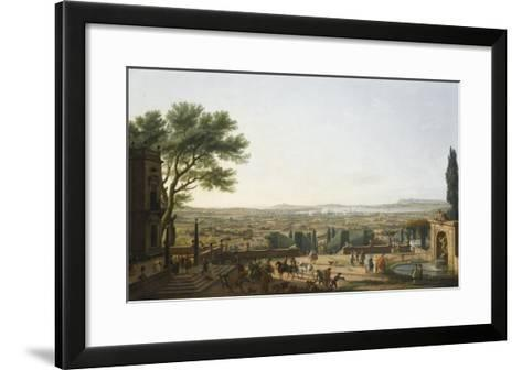 La Ville et la rade de Toulon-Claude Joseph Vernet-Framed Art Print