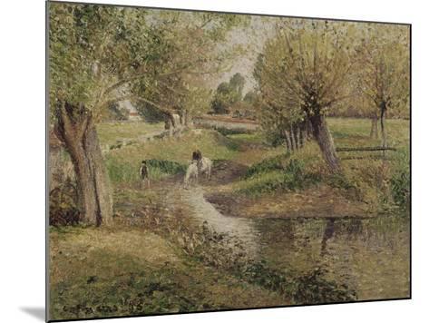 L'Abreuvoir, Eragny-Camille Pissarro-Mounted Giclee Print