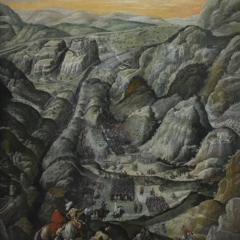 Le combat du défilé du Pas-de-Suze en Piémont, 6 mars 1629--Stretched Canvas Print