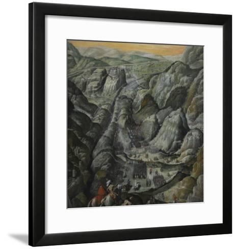 Le combat du défilé du Pas-de-Suze en Piémont, 6 mars 1629--Framed Art Print