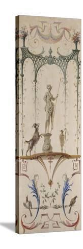 Le Faune-Jean Antoine Watteau-Stretched Canvas Print