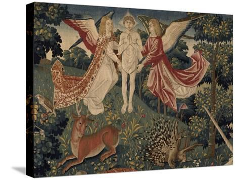 La tenture de Saint Etienne, pièce V : le martyre de saint Etienne-Colijn de Coter-Stretched Canvas Print