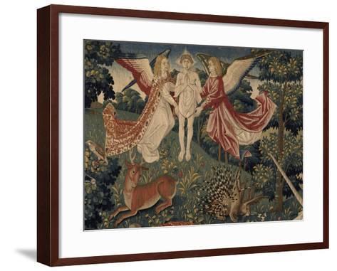 La tenture de Saint Etienne, pièce V : le martyre de saint Etienne-Colijn de Coter-Framed Art Print