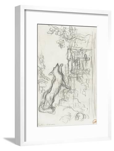 Le renard et les raisins-Gustave Moreau-Framed Art Print