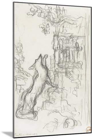 Le renard et les raisins-Gustave Moreau-Mounted Giclee Print