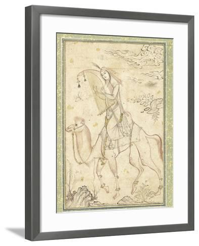 La Harpiste Azadeh à dos de chameau--Framed Art Print