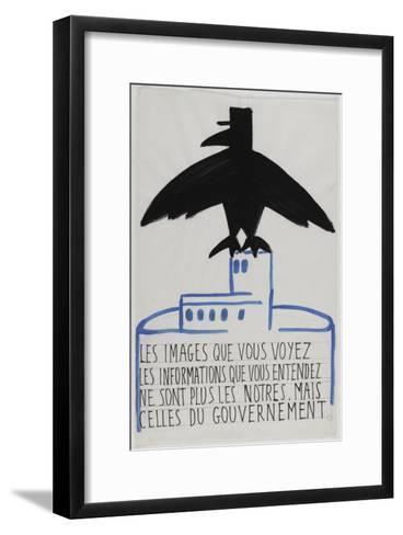 Les images que vous voyez--Framed Art Print