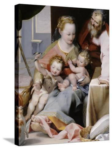 La Sainte Famille au chat-Federico Barocci-Stretched Canvas Print