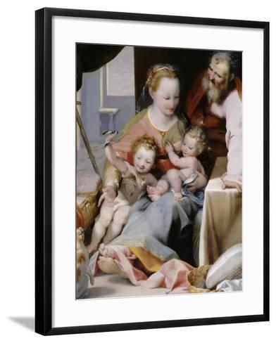 La Sainte Famille au chat-Federico Barocci-Framed Art Print