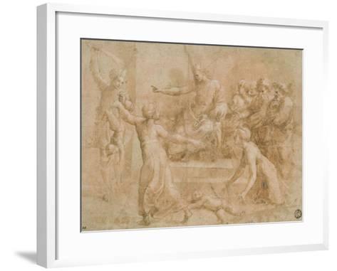 Le jugement de Salomon-Raffaello Sanzio-Framed Art Print