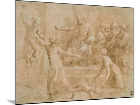 Le jugement de Salomon-Raffaello Sanzio-Mounted Giclee Print